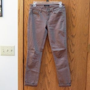 Olive Green Ann Taylor Skinny Fit Jeans
